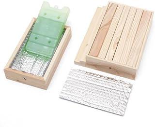 階段付ひんやりウッドデッキセット(保冷剤付) Sサイズ + 交換用保冷剤 2個付 暑さ対策 クールマット アルミプレート タイル ひんやり