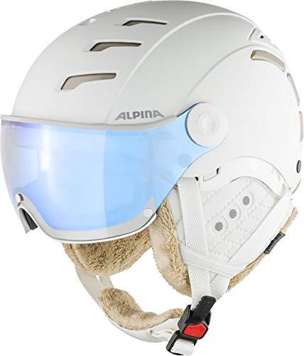 Alpina Jump 2.0 VM Casque de Ski et de Snowboard pour Femme Blanc Mat 55-58 cm
