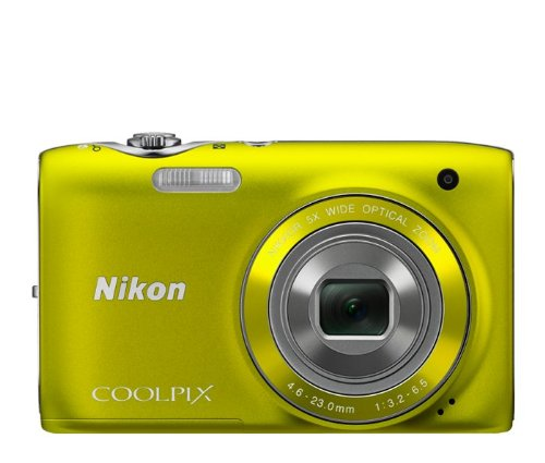 Lowest Prices! Nikon COOLPIX S3100 14 MP Digital Camera with 5x NIKKOR Wide-Angle Optical Zoom Lens and 2.7-Inch LCD (Yellow)