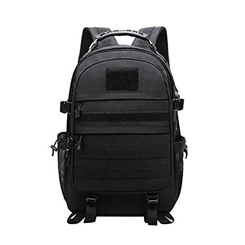 Kaday JOTHIN Hombre Mochila Táctica 40L Grandes Bolsa de Senderismo Impermeable Deporte Mochilas de Camping Resistente Tela Oxford Backpack USB (Negro) (Negro)