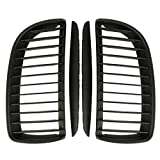 Accesorios for automóviles Partes Interiores 4 Piezas/Set 2 Piezas Mate Matte Coche Black ARRANTE PARPERA DE PARPERA + 2 Piezas/Ajuste for BMW E90 E91 320I-335i (Color : Black)