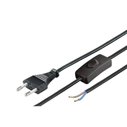 CABLEPELADO Cable alimentacion con Interruptor Tipo C 1.5 M Negro