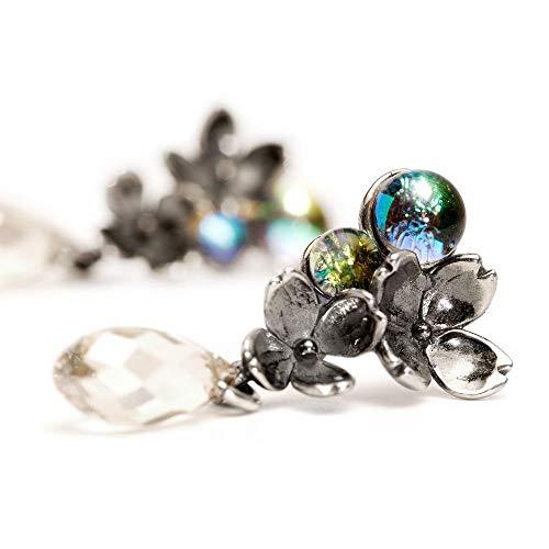 Trollbeads Silber Earring Ungleiche Blumen