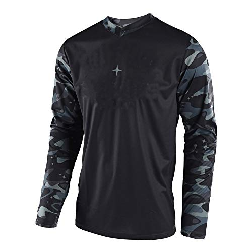 R Star New Cool Long Sleeve Motocross Quick-Drying Cosmic Camo Jersey Men Long Sleeve Dirt Bike Sports Apparel CIN (L)