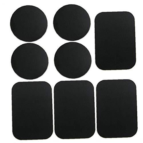Ohomr Las Placas de teléfono Placas de Metal del Montaje del Metal Etiqueta engomada del Coche para reemplazar Montaje del Coche del teléfono Negro