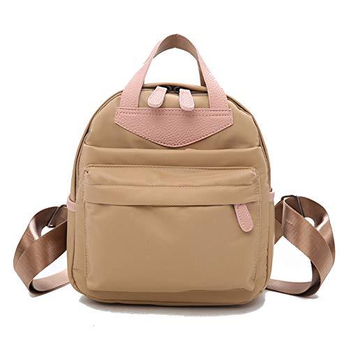 T-ara Neueste Damenmode-Sportkontrast, die Minirock-Rucksack täuschen Unverzichtbar für Reisen im Freien (Color : Khaki Color, Size : 21 * 9 * 24cm)