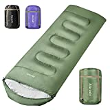 Atarshi Camping Sleeping Bag- 4 Seasons for Adults, Light, Warm, Extra-Large with Compression Sack- Great for Hiking, Backpacking & Outdoor Adventures in Cold Weather,40''X87