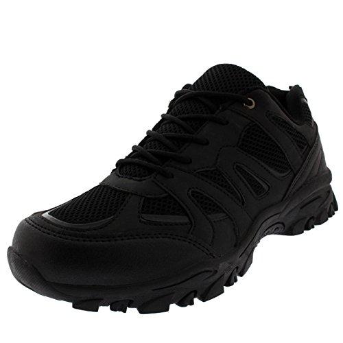 Mens Gym Shock Absorbing Fitness Walking Running Lightweight Trainers - Black - UK8/EU42 - BS0174