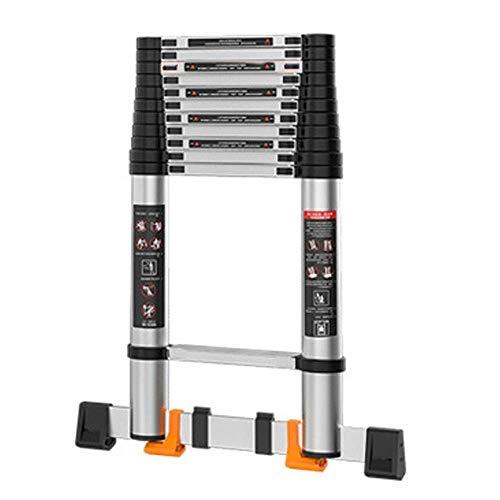 WYBD.Y Einfach zu bedienende Mehrzweckleiter Mehrzweckteleskopleiter aus Aluminium Leichte, zusammenklappbare, kompakte, tragbare Leiter rutschfeste Leitern (Farbe: H, Größe: 5,6 M)