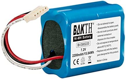 BAKTH Real Capacity 2200mAh 7 2V NiMH Replacement Battery for iRobot Braava 380 380T 390T Mint product image