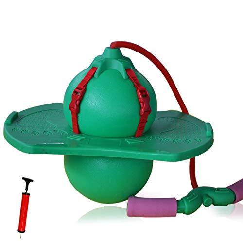 Du Du Pelota de gimnasia, saltar, divertida, para entrenar el sentido del equilibrio y la habilidad para yoga y mantener la infancia (verde B)