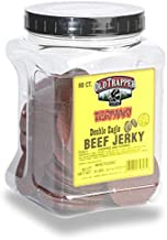Old Trapper Teriyaki Double Eagle Beef Jerky | Traditional Style Real Wood Smoked | 1 Jar (80 Pieces)