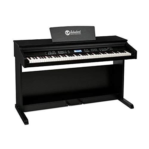 Schubert Subi 88 MK II - Piano Digital , Teclado eléctrico de 88 Teclas , Midi , USB , 360 Sonidos , 160 ritmos , 80 Canciones Demo , Pantalla LCD , Compatible con Sistemas Hi-Fi PA , Negro