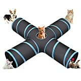 Cozy Vibe - Túnel para gato, plegable, 4 vías, para gatos, perros,...