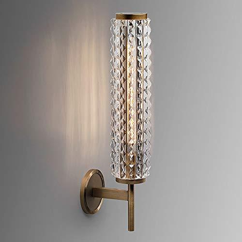 Decoratie Postmodern Koper Wandlamp Licht Woonkamer Crystal Wandlamp Voor De Badkamer Spiegel Lichten Badkamer Ontwerper Villa Wandlamp (12 * 53cm)