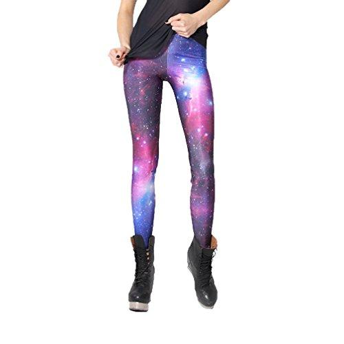 MONIKEEN Digital Print Leggings Weltraum Galaxy Space Patterned Leggings für Damen