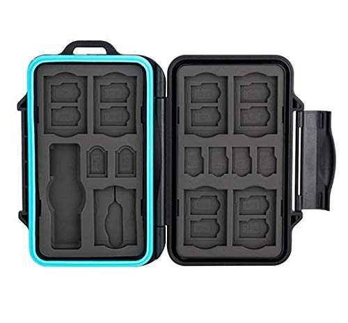 JJC MCR-STS27 Rugged Waterproof Memory Card Case with USB 3.0 SD, Micro...