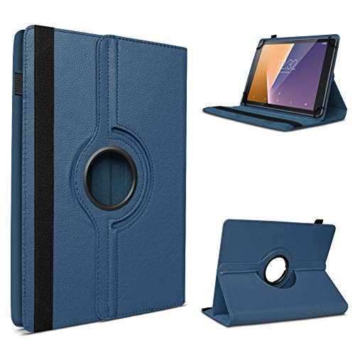 UC-Express Schutzhülle kompatibel für Vodafone Smart Tab N8 Tablet Hülle Tasche Hülle Schutz Cover 360° Drehbar, Farbe:Blau