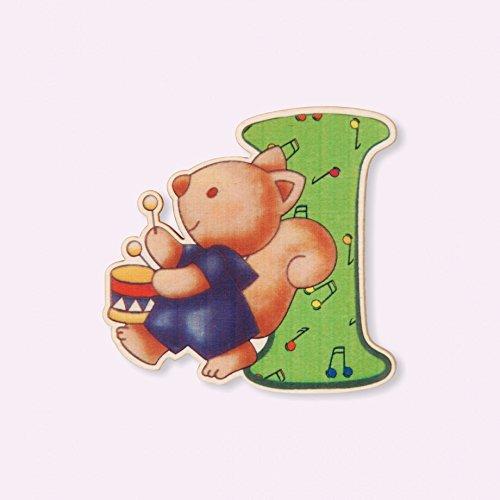 Dida - Lettre I Bois Enfant - Lettres Alphabet Bois pour Composer Le nom de Votre bébé et décorer la Chambre