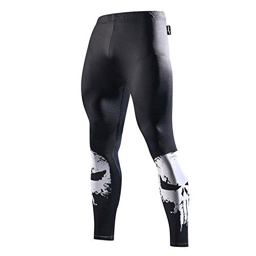 Fringoo - Leggings deportivos - para hombre Punisher - Tights Medium