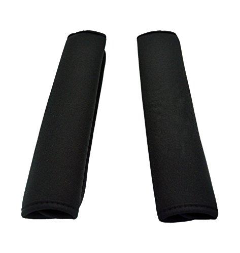 Wanty 1 Pair of 2 Black Color Neoprene Multipurpose Comfort Shoulder Strap Pads Shoulder Cushion Pad Protector for Laptop/Travel Bag/Messenger/Boxing/Car Seat Belts Protect Pads (black)