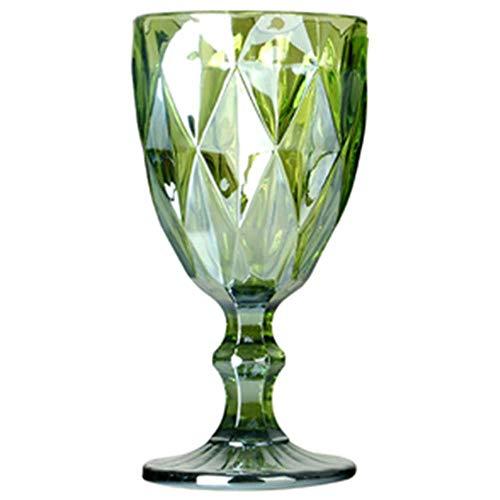 CXK Copas de Vino Vasos Multicolores tallados Vasos de Jugo de Vino Tinto Banquete de Boda Flautas de champán Copa para Bar Restaurante, Verde