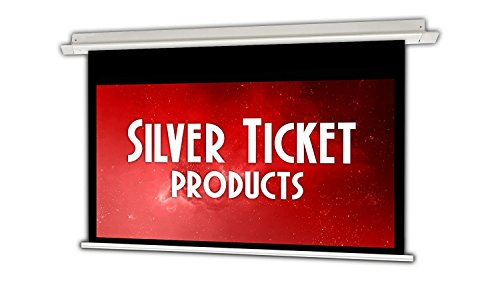 SIE-169100 Silver Ticket 16:9 4K Ultra HD Ready HDTV in-Ceiling Electric Projector Screen (16:9, 100', White Material)