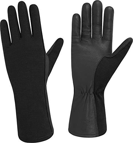 normani US Herren Pilotenhandschuhe mit Hitzeschutz Farbe Schwarz Größe 10