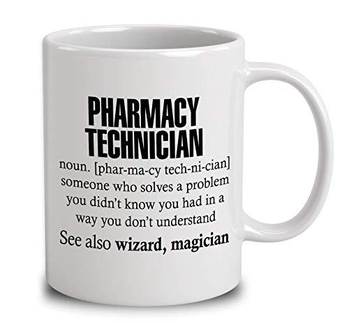 N\A Técnico de Farmacia Alguien Que Resuelve un Problema Taza de café Blanca de 11 onzas
