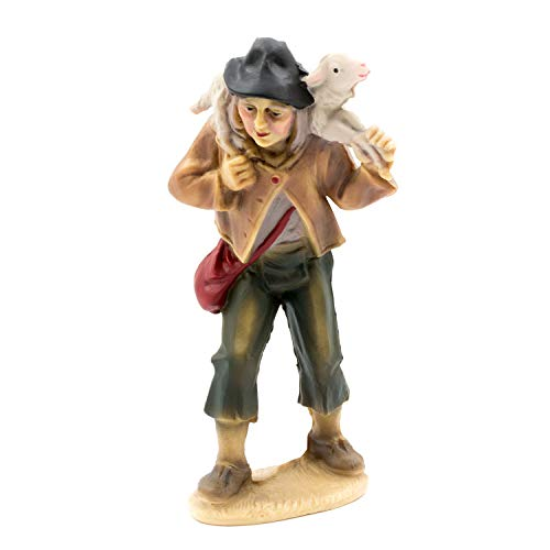 MAROLIN Hirte mit Schaf auf Schulter, zu 12cm Fig. (Kunststoff)