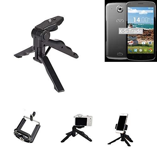 K-S-Trade Trípode para Teléfono Móvil MobiWire Auriga+ Trípode Mini De Cámara Compacta Trípode De Teléfono Móvil Plástico Negro (1x)