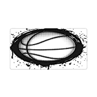 大型 ゲーミングマウスパッド, 抽象ドリブルブラックホワイトジャンプバスケットボールスポーツレクリエーションアクションアタックバラーバスケットボール 清潔しやすい デスクパッド 滑り止め ゴムベース デスクトップパッドキーボードパッド ター コンピューターアクセサリー 仕事 ゲームオフィス 自宅用