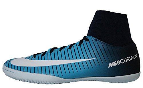 Nike Nike MercurialX Victory VI Fußballschuhe, Größe 46, für die Halle, für Erwachsene, Herren, Blau, Weiß, Bedruckt, Gummi