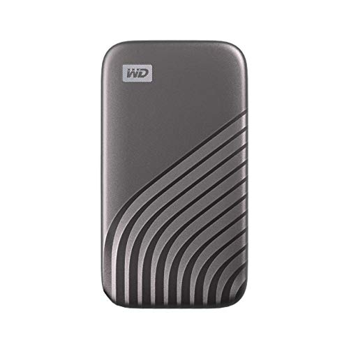 WD 500GB My Passport SSD External Portable Solid State Drive, Gray, Up to 1,050 MB/s - WDBAGF5000AGY-WESN