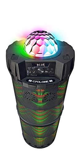 iDance Cyclone 6000 Tragbarer Lautsprecher mit Karaoke-Mikrofon, 1000 W, Bluetooth, Fernbedienung, Partylicht