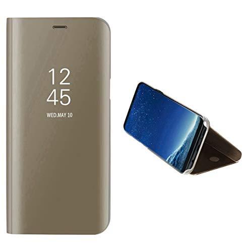 JEEXIA® Schutzhülle Für Xiaomi Mi 5C, Hohe Qualität Spiegeleffekt PU Lederhülle Flip Cover Mit Stand Function Anti-Fall Schutzhülle - Gold