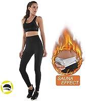 NHEIMA Legging Anti Cellulite, Pantalon de Sudation, Legging Femmes Taille Haute avec Nanotechnologie pour Tonifier des...
