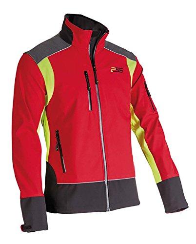 PSS X-Treme Shell - Soft Shell-Jacke, in rot/gelb, Größe XL