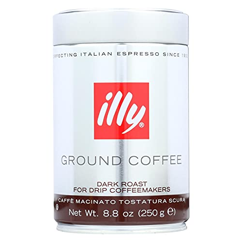 Illy Caffe Coffee Drip Dark Roast 8.8 Oz-Pack of 6