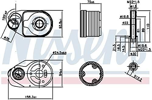 Nissens 90796 Radiateur d'huile de moteur