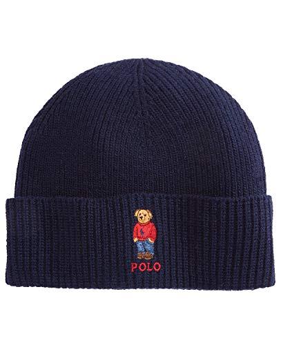 Polo Ralph Lauren Men`s Wool Blend Knit Hat (Hunter Navy, One Size)