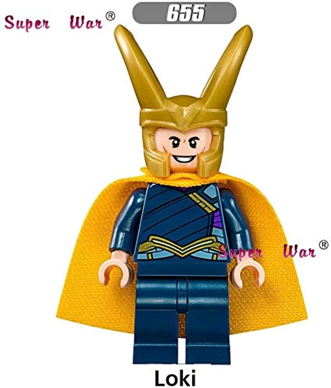 Generic 20pcs Superhero Marvel Comics Thor Ragnarok Grandmaster En DWI Gast Building Blocks Bricks Models Classic Learning MCU Baby Toy 655
