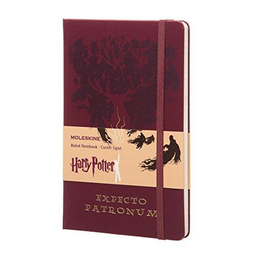 Moleskine Taccuino Expecto Patronum, a Righe, Large, Rosso, Edizione Limitata Harry Potter