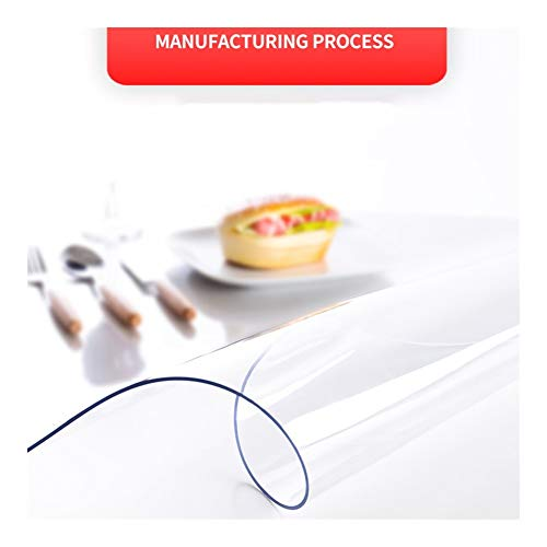NINGWXQ Modern PVC Transparant Waterdicht Tafelkleed Keukentafel Cover Waterdicht Zacht Glas Keukentafelkleed, Aanpasbaar (Color : 1.3mm, Size : 0.8x0.8m)