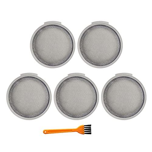 NIDUNO 5 Paquete de filtros HEPA para MIJIA SCWXCQ01RR ROBORROCK H6 Handheld Wireless Aspirador Accesorios reemplazables (Color : Gris)