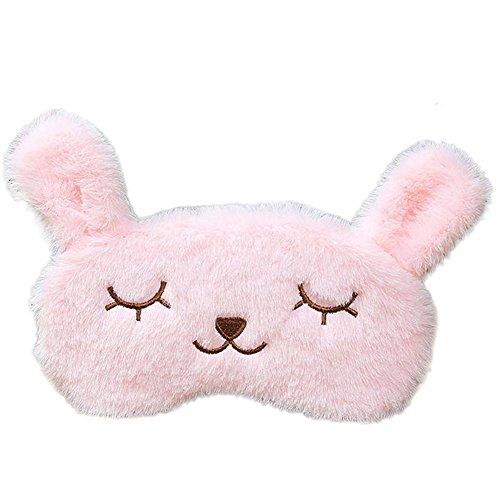 BIGBOBA 1Stück Augenmaske Schlafmasken für Frauen süße Kinder Maske im Kaninchen-Design kühlend wärmend ca. 20,3x 10,2cm