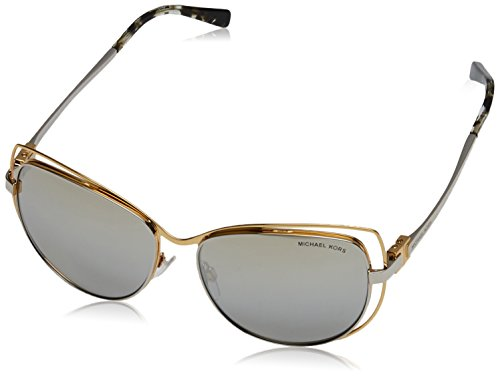 Michael Kors Audrina I Gafas de sol, Gold/Silver 11196V, 58 Unisex-Adulto