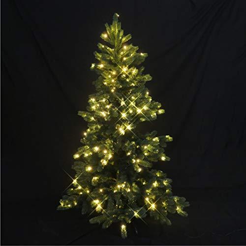 proventa® Árbol de Navidad artificial con 250 LEDs. Medidas 182 x Ø 118 cm. Material muy realista. Temporizador 8 horas. Completamente precableado. Soporte de metal. Resistente al agua IP44