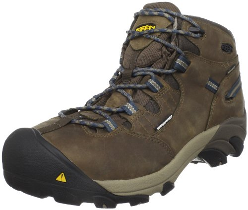 KEEN Utility Men's Detroit Mid Steel Toe Work Boot,Slate Black,8 EE US