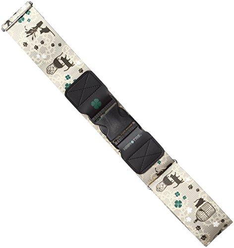 siffler(シフレ)『バックル式スーツケースベルト HAPI+TAS ハピタス(HAP7004)』